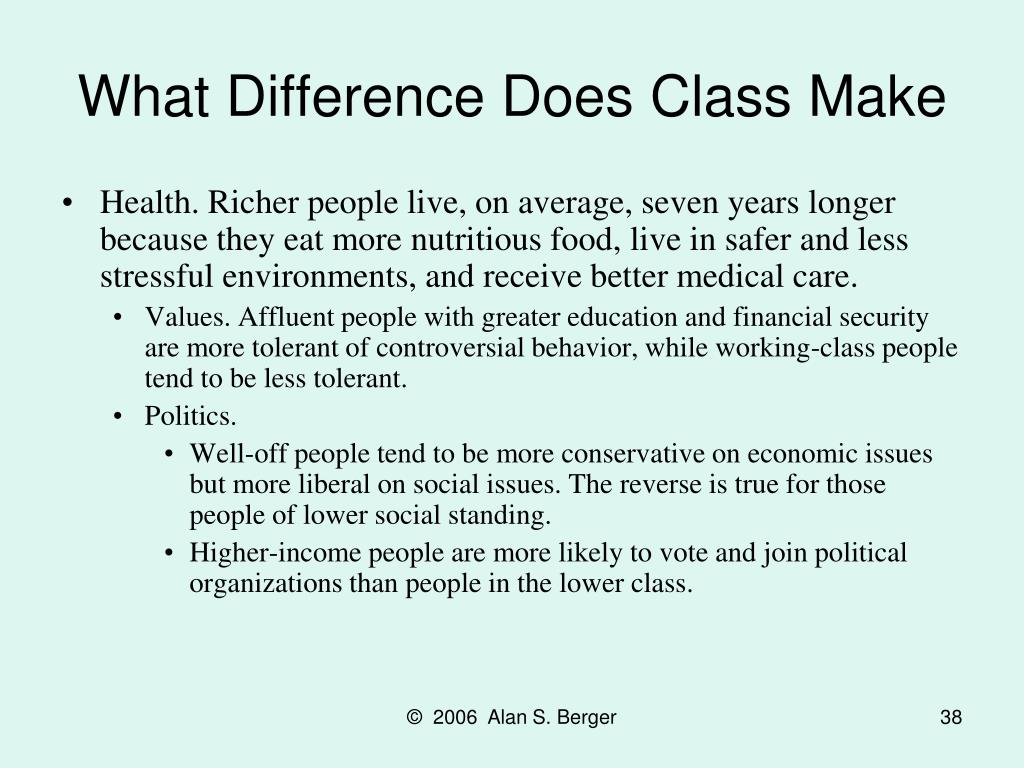What Difference Does Class Make