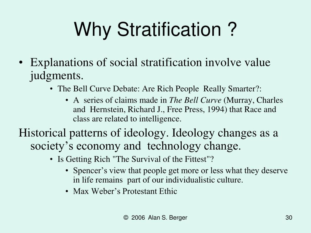 Why Stratification ?