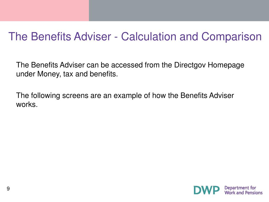 The Benefits Adviser - Calculation and Comparison