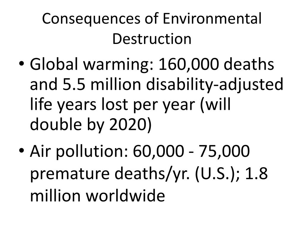 Consequences of Environmental Destruction