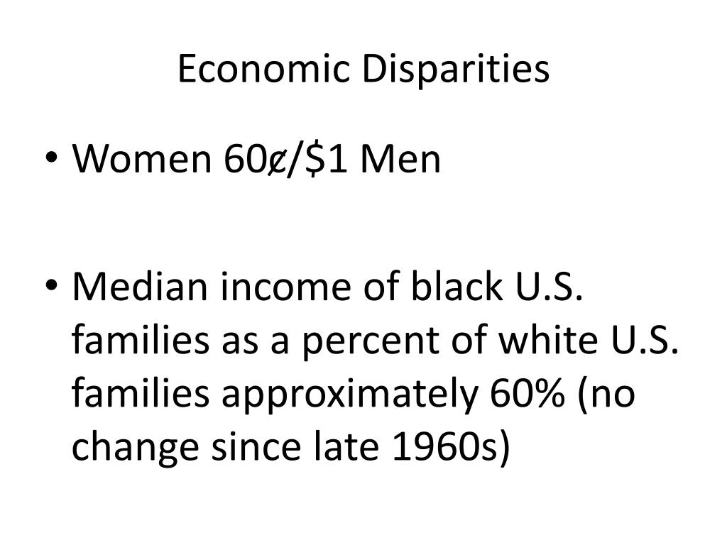 Economic Disparities
