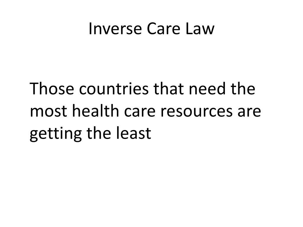Inverse Care Law