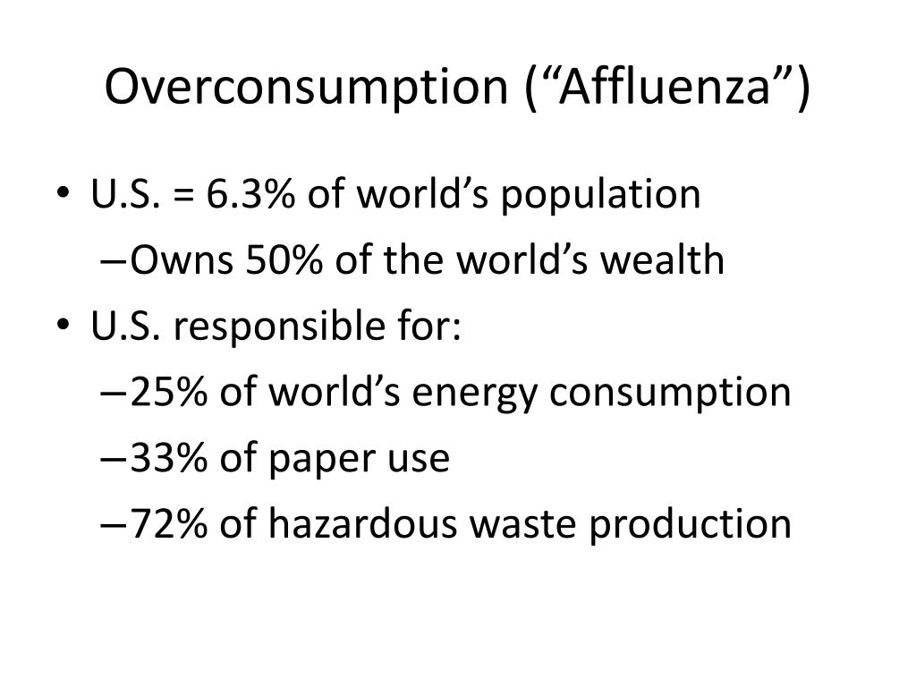 "Overconsumption (""Affluenza"")"