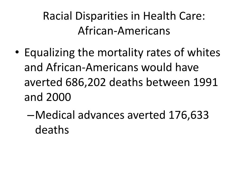 Racial Disparities in Health Care: