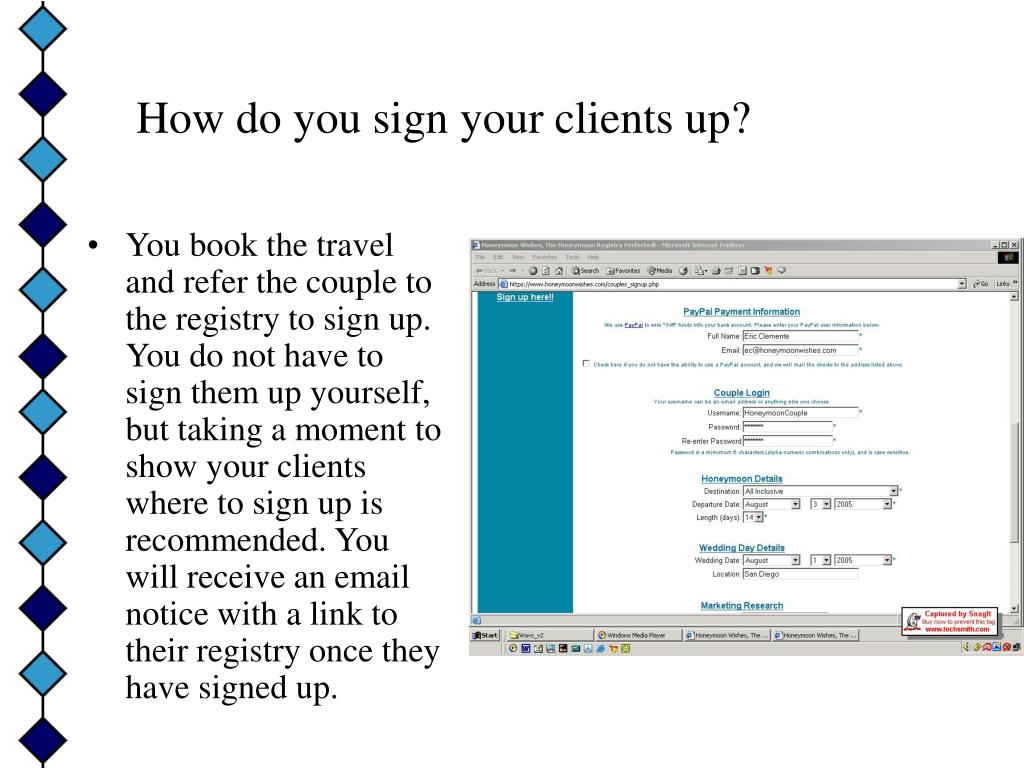 How do you sign your clients up?