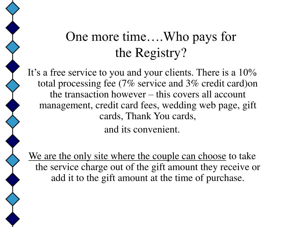 One more time….Who pays for