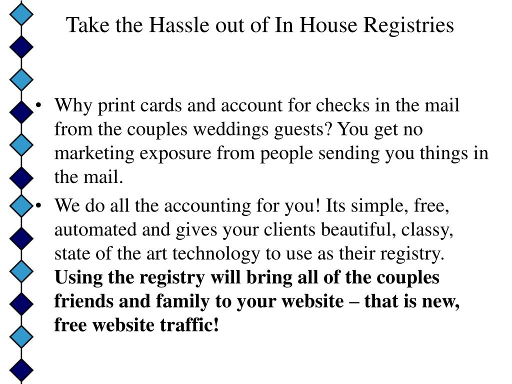 Take the Hassle out of In House Registries