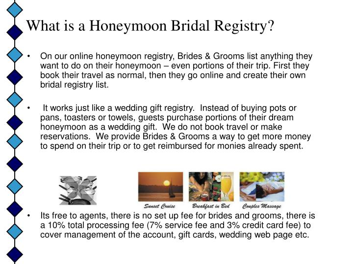 What is a honeymoon bridal registry