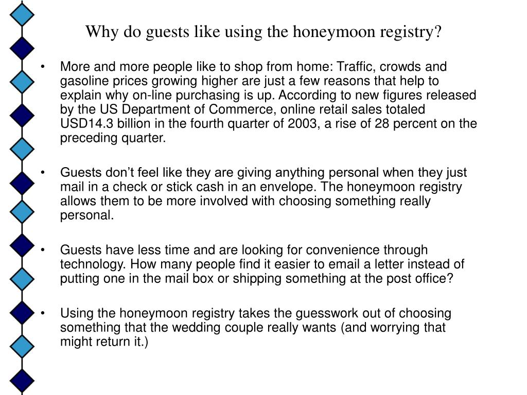 Why do guests like using the honeymoon registry?