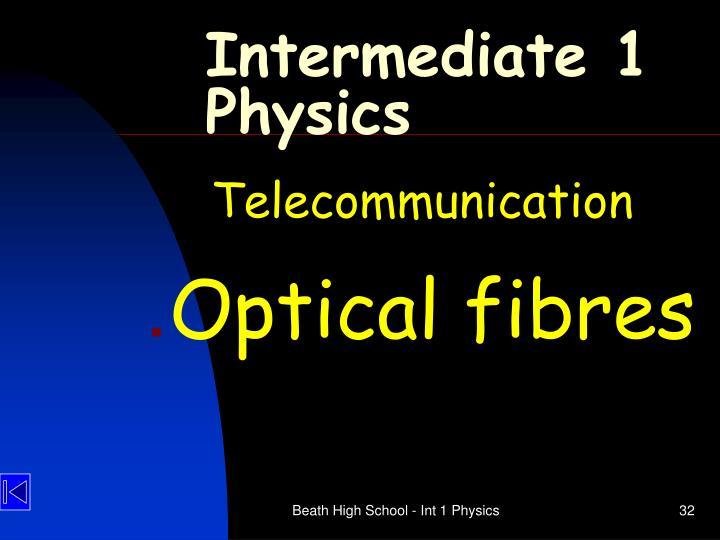 Intermediate 1 Physics