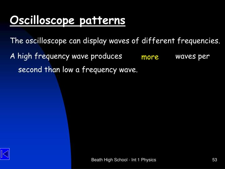 Oscilloscope patterns