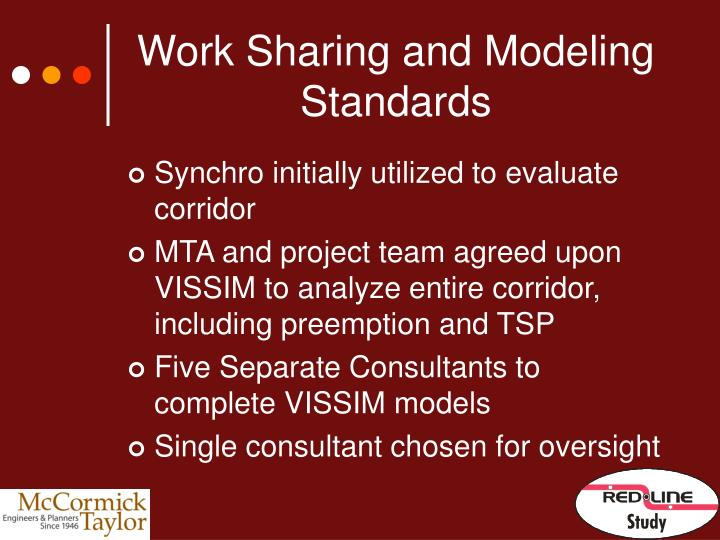 Work Sharing and Modeling Standards