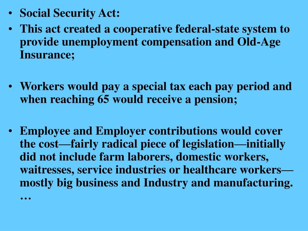 Social Security Act: