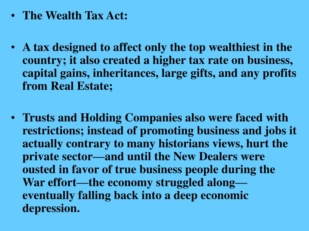 The Wealth Tax Act: