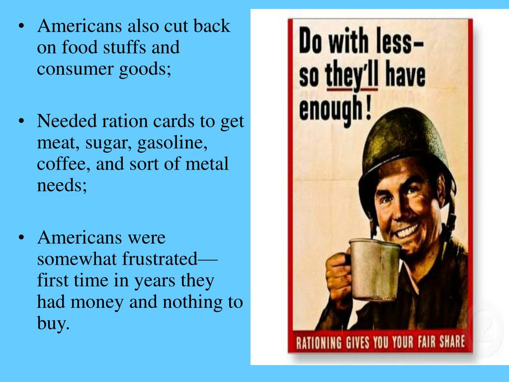 Americans also cut back on food stuffs and consumer goods;