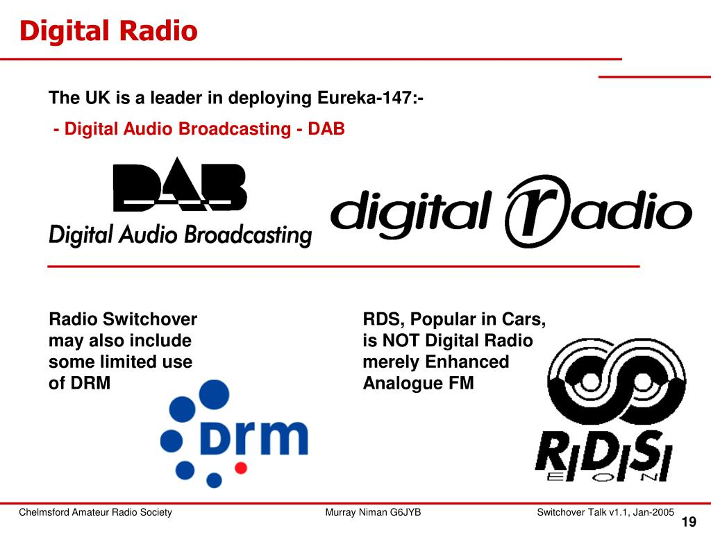 Radio Switchover may also include some limited use of DRM