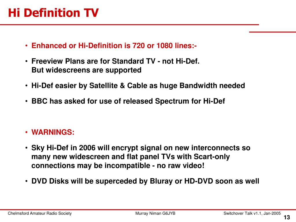 Hi Definition TV