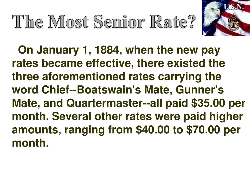 The Most Senior Rate?