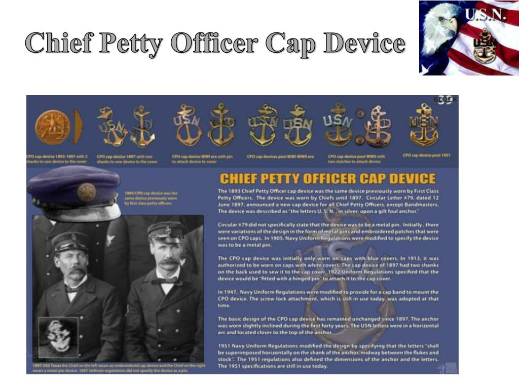 Chief Petty Officer Cap Device