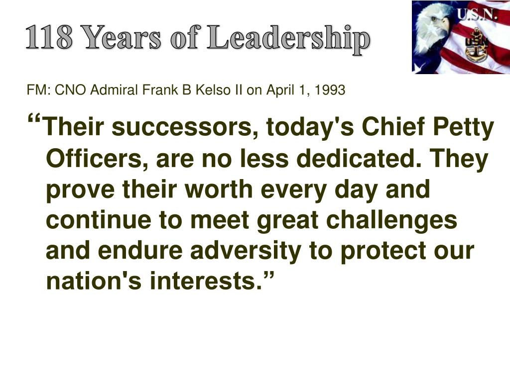 118 Years of Leadership