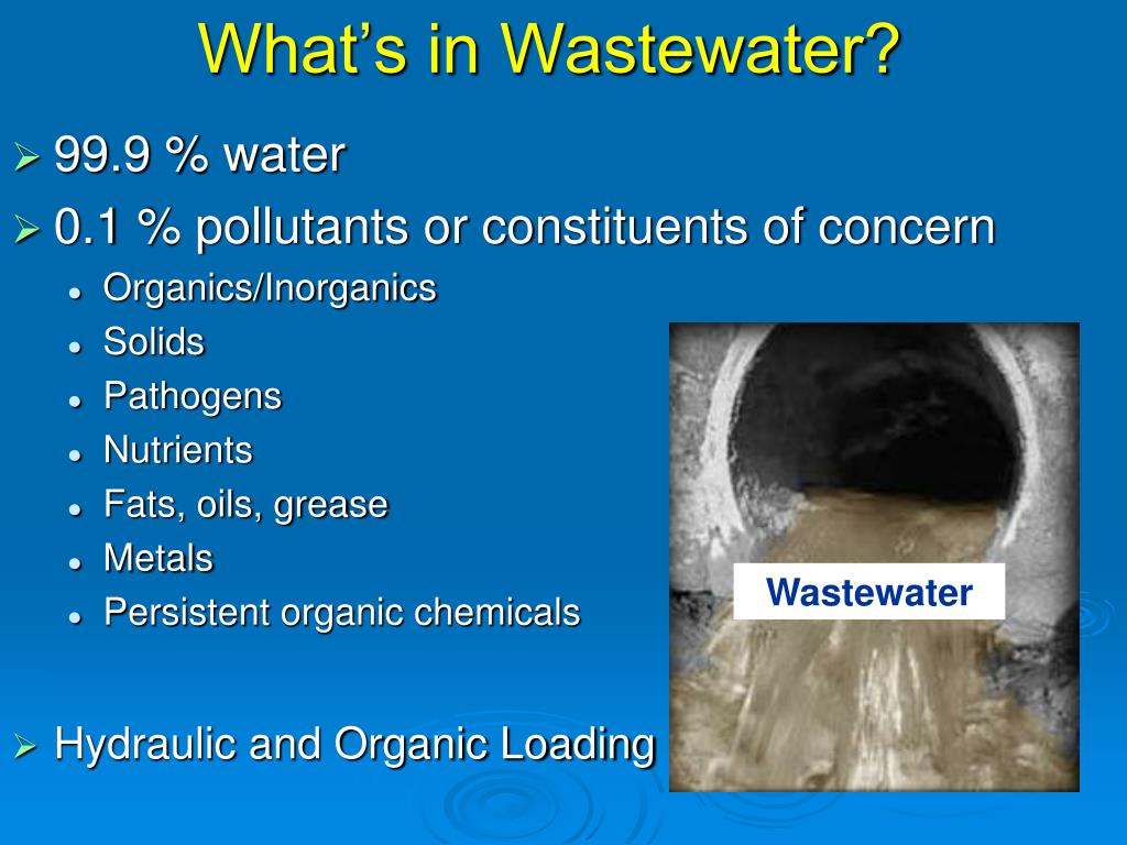 What's in Wastewater?