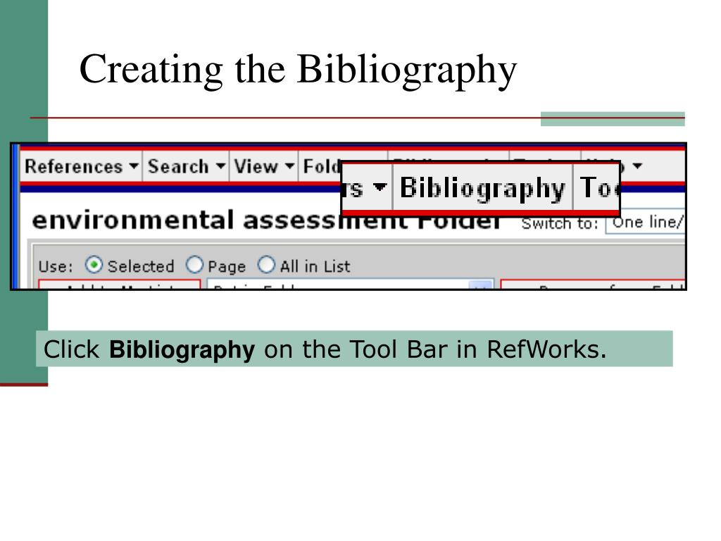 Creating the Bibliography
