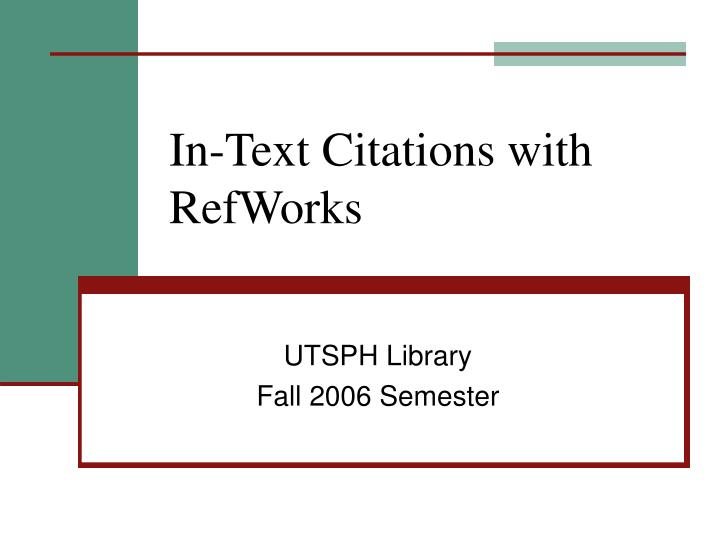 In text citations with refworks l.jpg