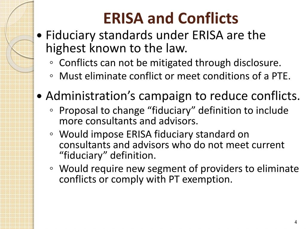 ERISA and Conflicts