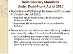 new fiduciary standards under dodd frank act of 2010