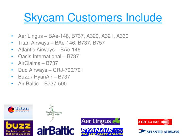 Skycam Customers Include