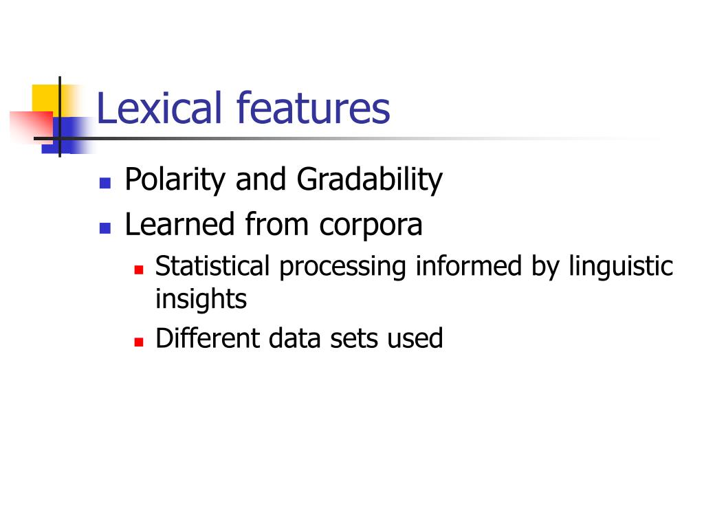 Lexical features