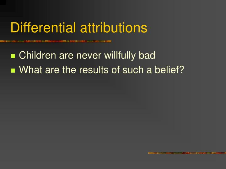 Differential attributions