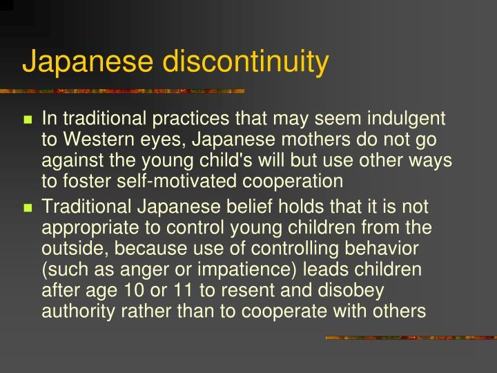Japanese discontinuity