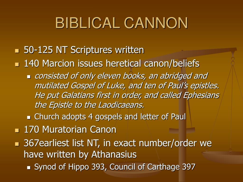 BIBLICAL CANNON