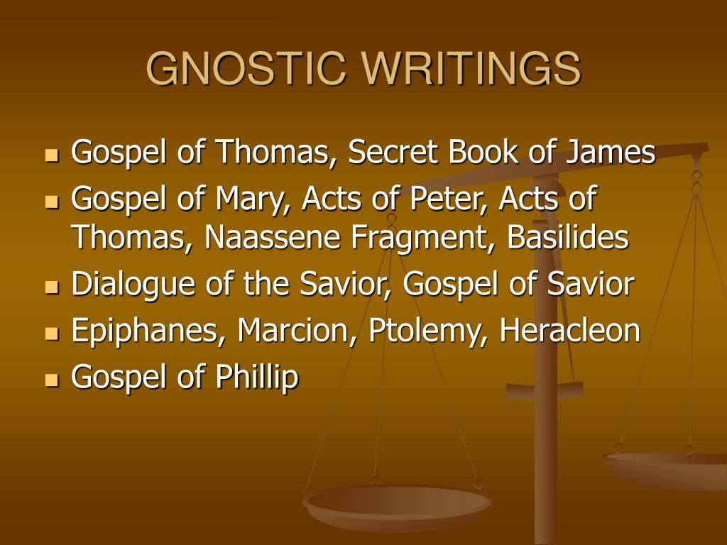GNOSTIC WRITINGS