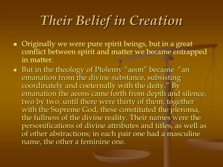 Their Belief in Creation