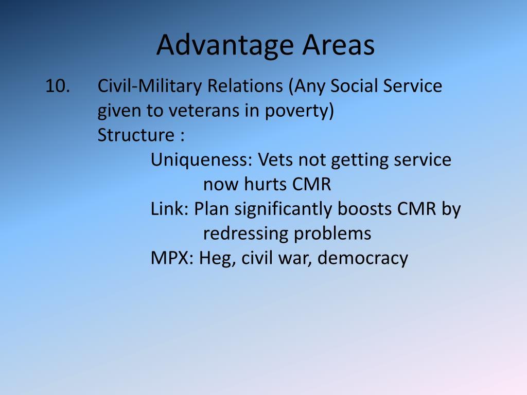 Advantage Areas