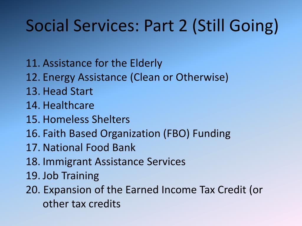 Social Services: Part 2 (Still Going)