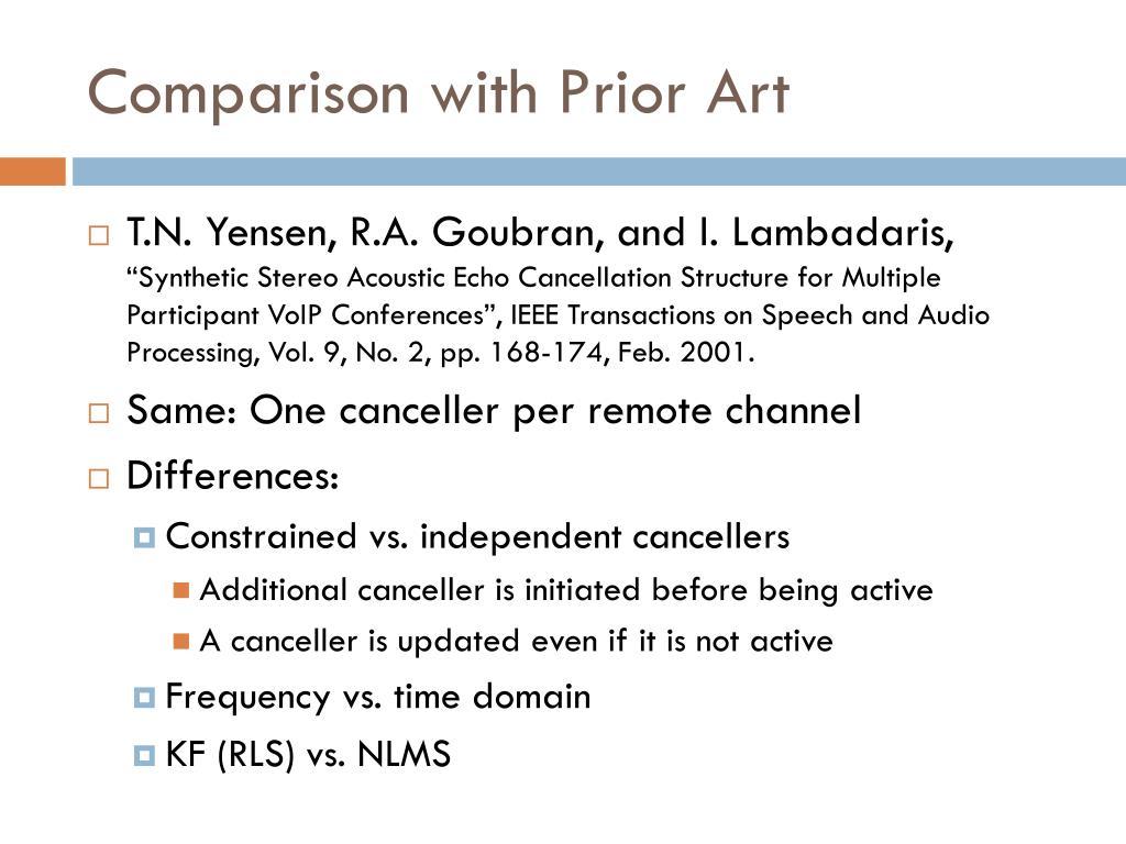 Comparison with Prior Art