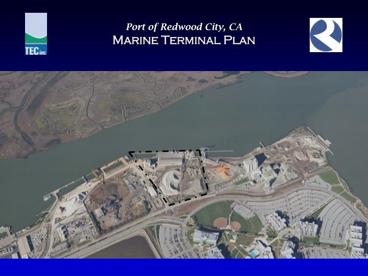 Port of redwood city ca marine terminal plan