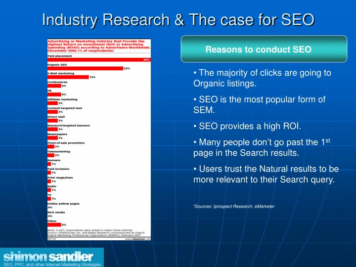 Industry Research & The case for SEO