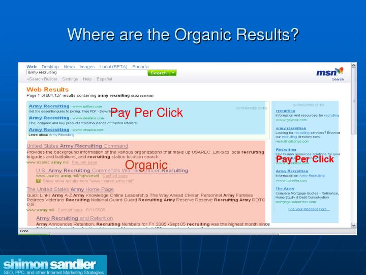 Where are the Organic Results?