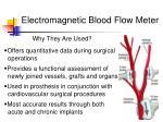 electromagnetic blood flow meter