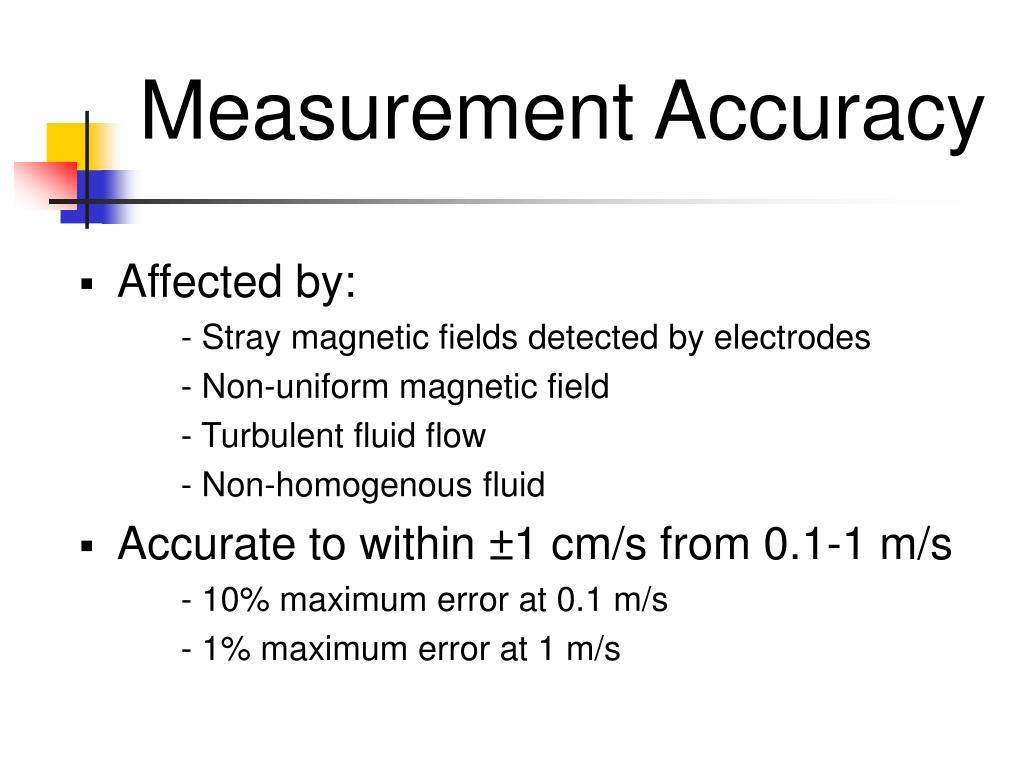 Measurement Accuracy