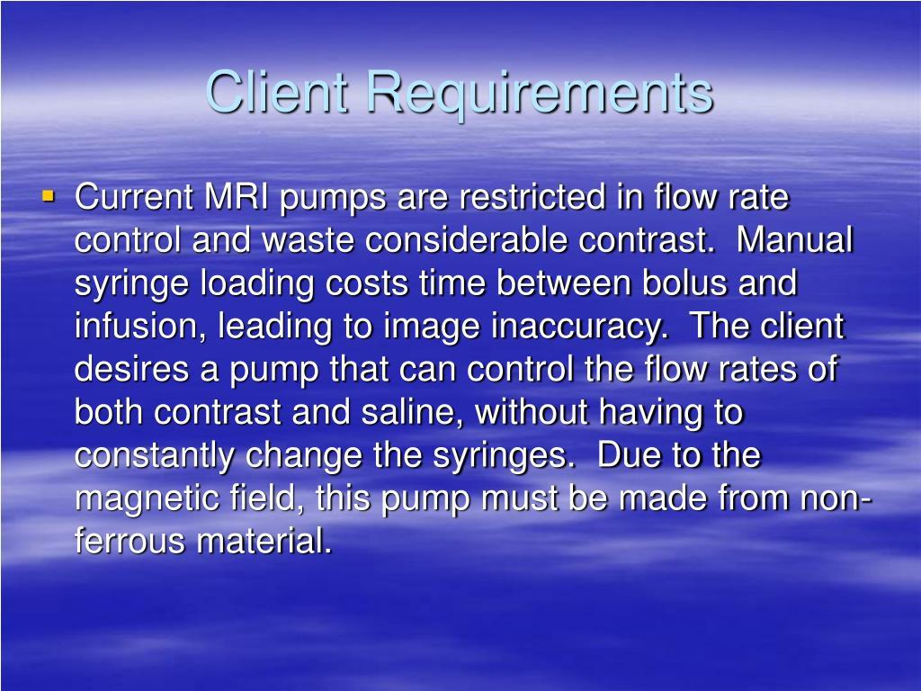 Client Requirements