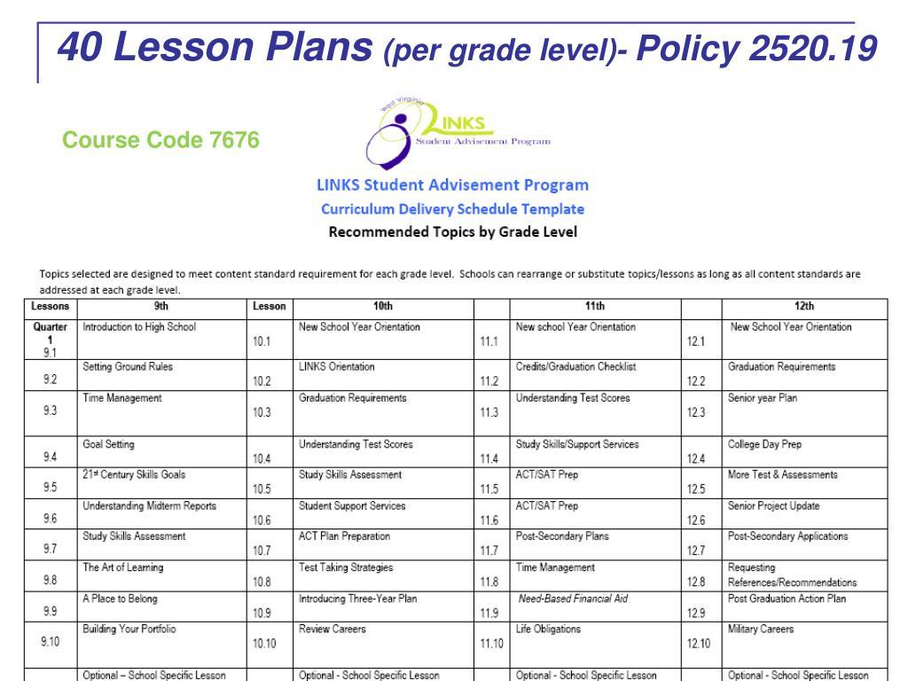 40 Lesson Plans