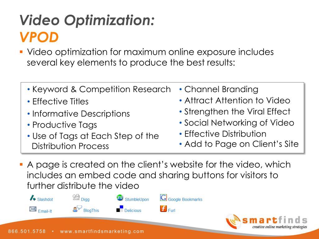 Video Optimization: