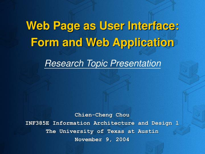 Web Page as User Interface: