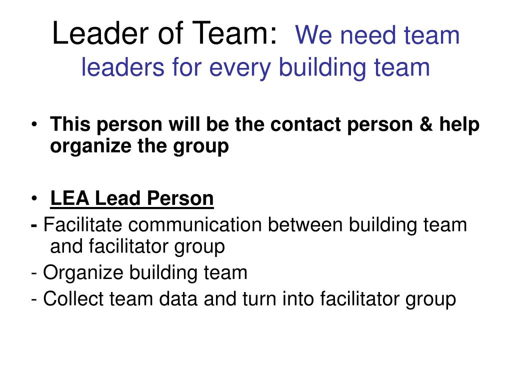 Leader of Team: