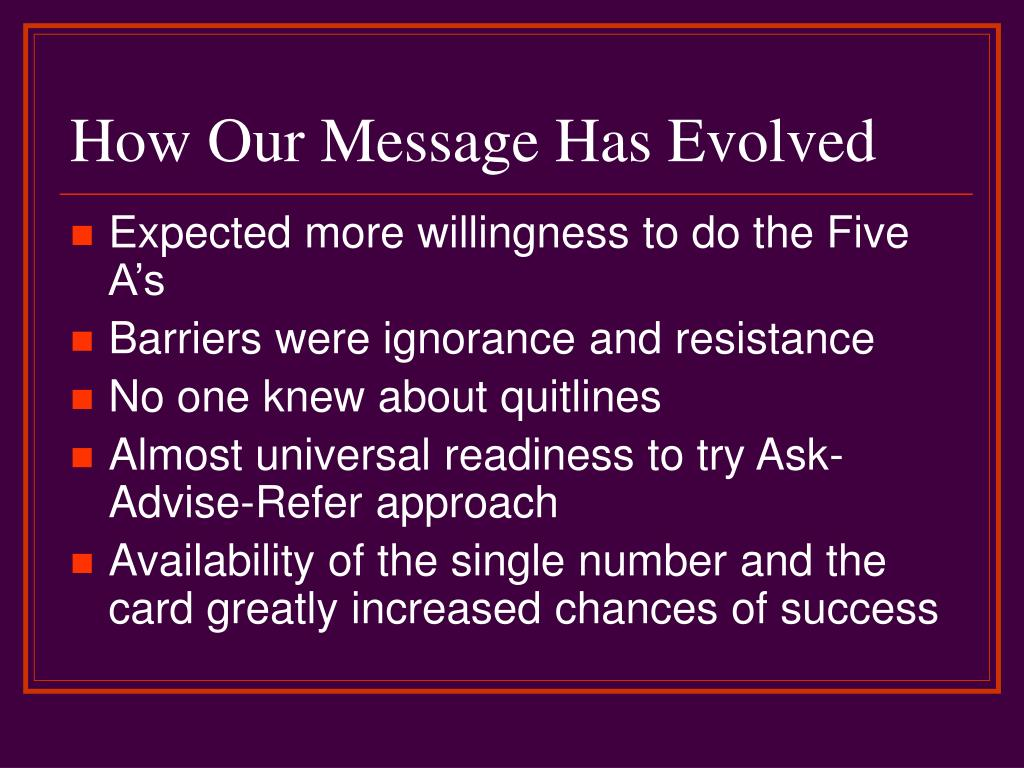 How Our Message Has Evolved